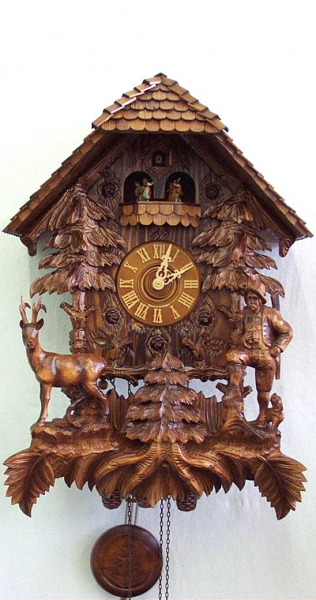 Cuckoo Clock Hunter's House - 8 day running time with music - Nr. 7 ...