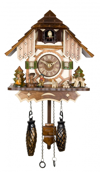 Adolf Herr Quartz Cuckoo Clock The Half Timbered House AH 20 QM New ...