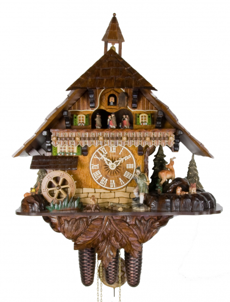 Details about Adolf Herr Cuckoo Clock - The Wild Forest AH UK 50 8TMT ...