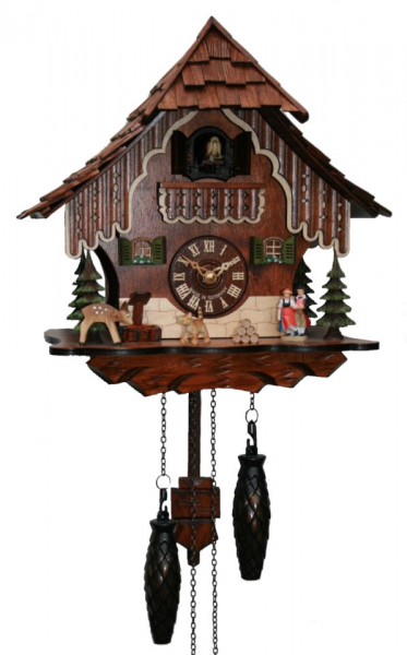 Details about Adolf Herr Quartz Cuckoo Clock - Black Forest House AH ...