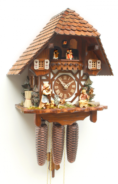 Cuckoo Clock Eight Day Musical Movement Rombach Und Hass with Animated ...