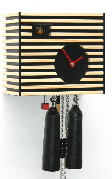 in Bauhaus style. The cuckoo clock has a mechanical 8 days movement ...
