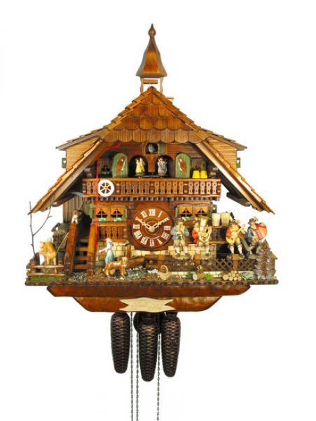 Chalet Cuckoo Clocks Cuckoo Clock 8-day-movement Chalet-Style 58cm by ...
