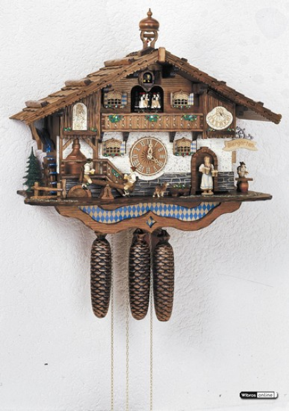 Chalet Cuckoo Clocks Cuckoo Clock 8-day-movement Chalet-Style 44cm by ...