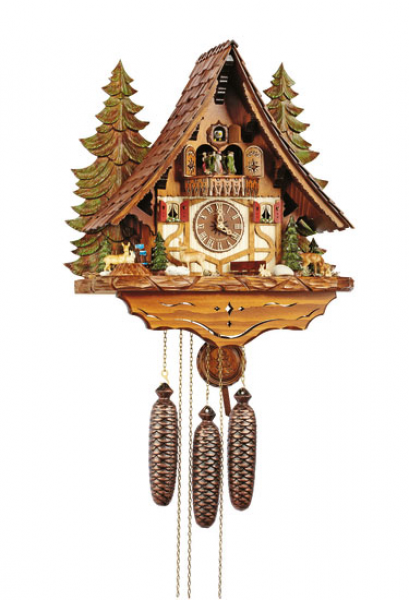 Chalet Cuckoo Clocks Cuckoo Clock 8-day-movement Chalet-Style 45cm by ...