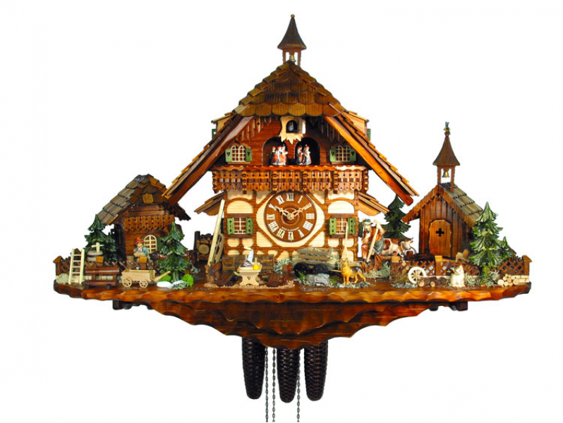 Chalet Cuckoo Clocks Cuckoo Clock 8-day-movement Chalet-Style 55cm by ...