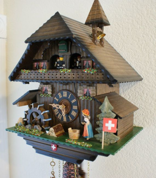 Musical Chalet Cuckoo Clock Swiss Made Mechnical by TheMontiShop, $600 ...