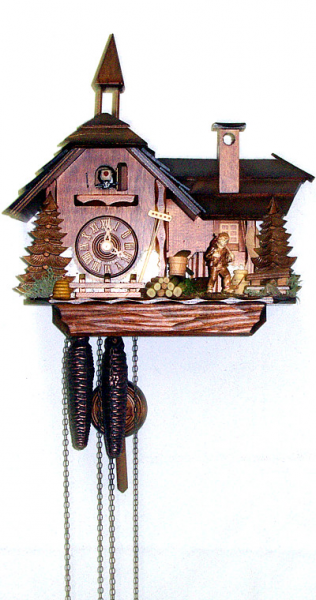 Cuckoo Clock Little Mill House - 1 day running time - Nr. 1.4599.01.P