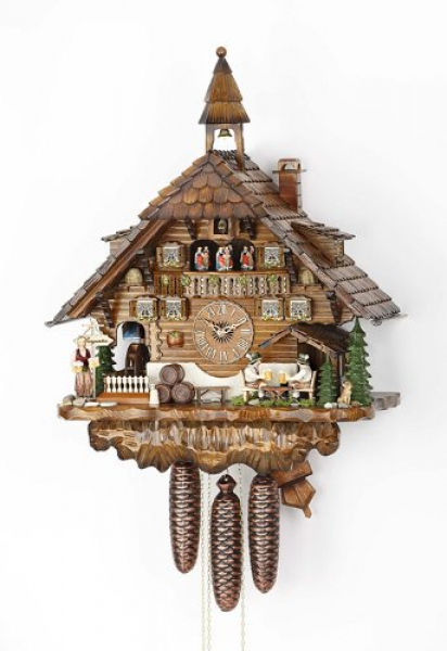 Cuckoo-Clock-Black-Forest-house-with-moving-beer-drinkers-and-mill ...