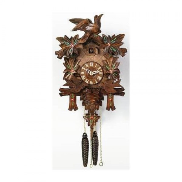 River City Clocks One Day Moving Birds Cuckoo Clock with Painted ...