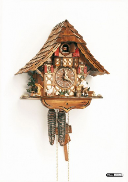 Chalet Cuckoo Clocks Cuckoo Clock 1-day-movement Chalet-Style 27cm by ...