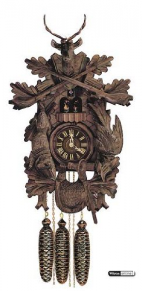 in German Cuckoo Clock 8-day-movement Carved-Style 24 inch - Authentic ...