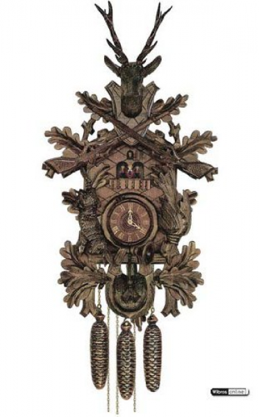 in German Cuckoo Clock 8-day-movement Carved-Style 30 inch - Authentic ...