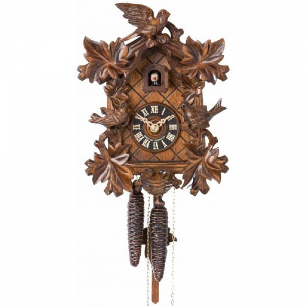 ... Traditional Carved Birds and Nest - German Black Forest Cuckoo Clock