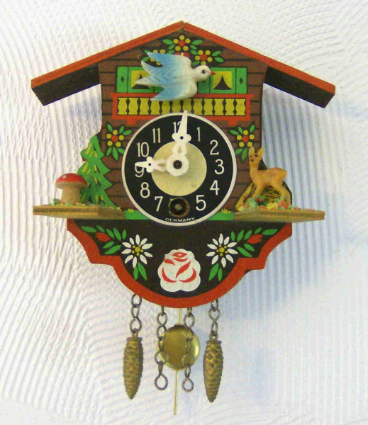 Painted Mini Cuckoo Clock by wierclock on Etsy
