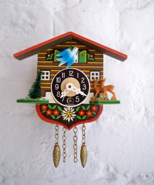 Mini Vintage German Cuckoo Clock Great by GallivantingGirls
