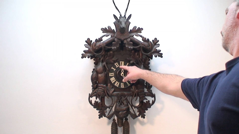 Antique Hunter Style Cuckoo & Quail Clock - YouTube