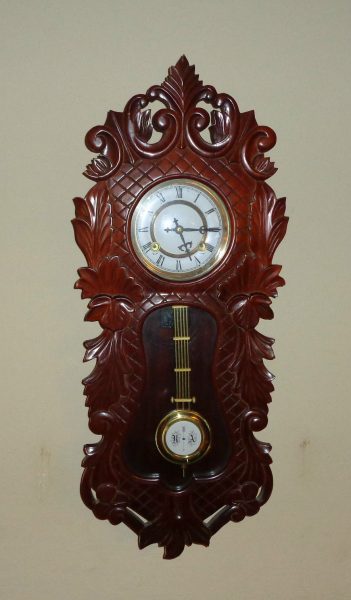 Antique/Vintage German Black Forest hand carved wood wall clock.RA ...