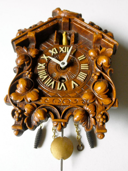 Vintage Hand Carved Cuckoo Clock by LUX Clock Mfg. by JackpotJen