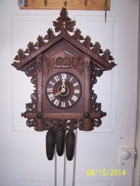 Antique Railroad Quail and Cuckoo Clock Large Size Running | eBay
