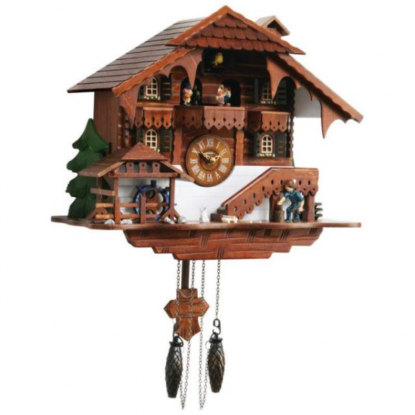 Details about Kassel Large Cuckoo Clock Battery Operated Wall Clock ...