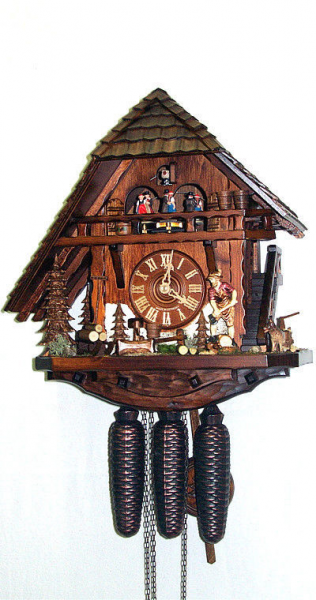 German Black Forest Cuckoo Clock 8 Day House, One Sided Roof With ...