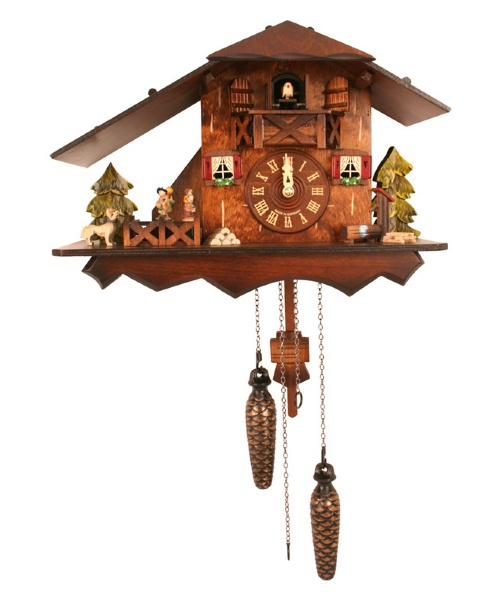 Black Forest Chalet with Dancers Cuckoo Clock