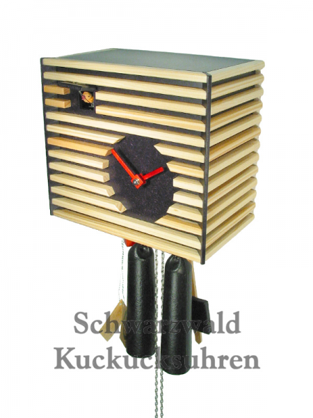 Details about Black Forest Modern Art Cuckoo Clock Bauhaus black NEW