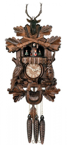 One Day Hand-carved Musical Cuckoo Clock with Dancers and Animated ...