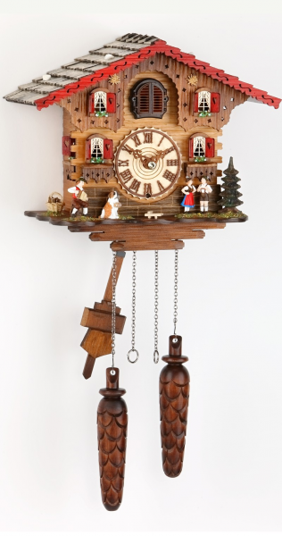 ... Cuckoo Clock Swiss house with music, incl. batteries TU 449 QM HZZG