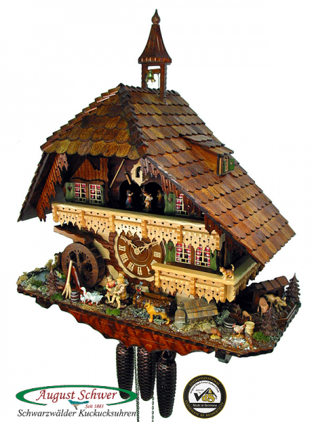 ... 01 p cuckoo clock of the year 2008 gutach valley mill clock of the