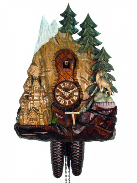 Cuckoo-clock-chalet-clock-Black-Forest-cuckoo-clock-August-Schwer ...