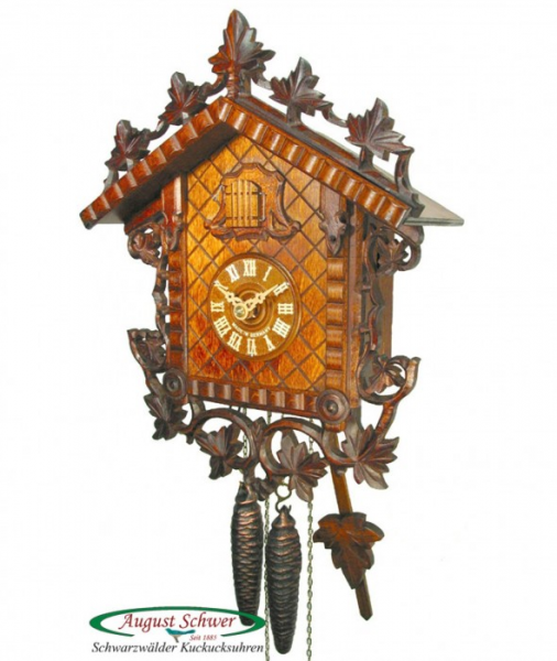 Train-station-cuckoo-clock-Cuckoo-clock-August-Schwer-Black-Forest ...