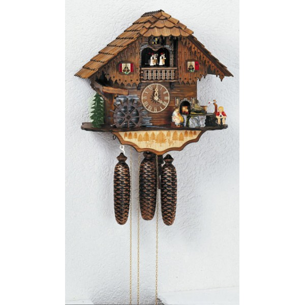 Home > Cuckoo clocks > Cuckoo clock Black Forest cottage with Carillon