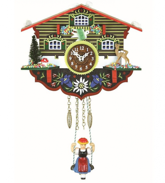... painted flowers under house | Cuckoo Clock Tattoo inspiration