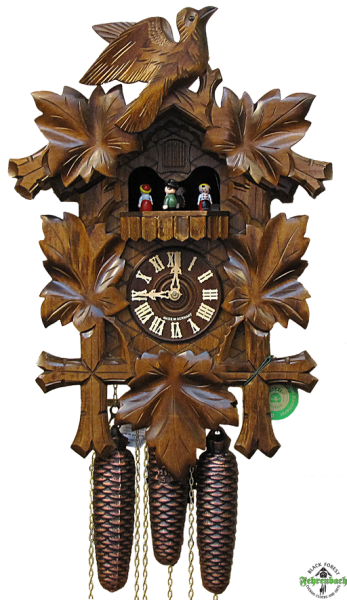 Home Cuckoo Clock - 8-Day Traditional with 5 Leaves & Bird - HEKAS