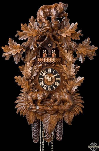 Home Cuckoo Clock - 8-Day Traditional With Bears - Hönes