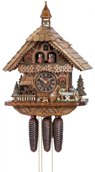 Chalet Cuckoo Clocks Cuckoo Clock 8-day-movement Chalet-Style 39cm by ...
