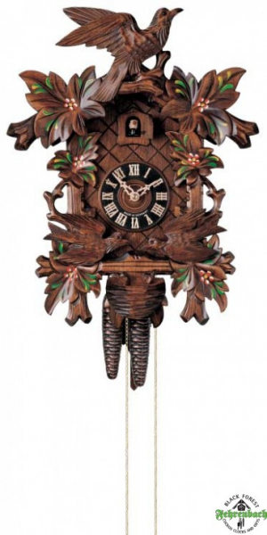 Cuckoo Clock - 1-Day Traditional With Moving Birds And Flowers ...