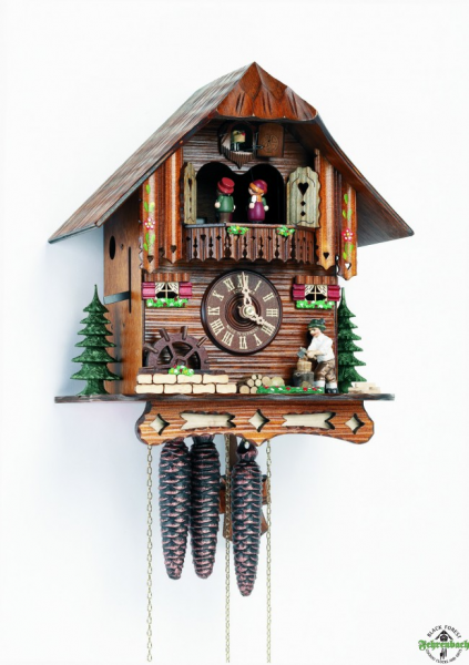 Home Cuckoo Clock - 1-Day Chalet With Woodchopper - Schneider