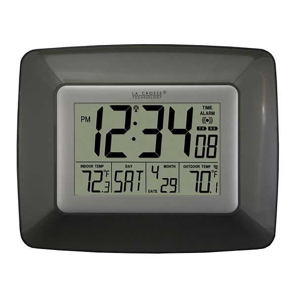 ... Technology Atomic Digital Wall Clock with Wireless Temperature Sensor