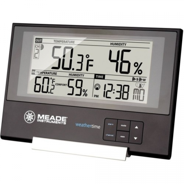 ... Atomic Clock - Meade - Slim Line Weather Station with Atomic Clock