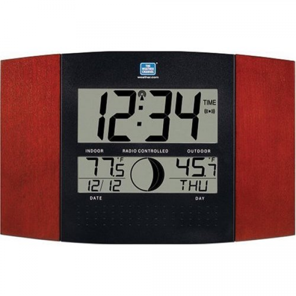 indoor or outdoor atomic clock with thermometer 50308 - Atomic Clock ...