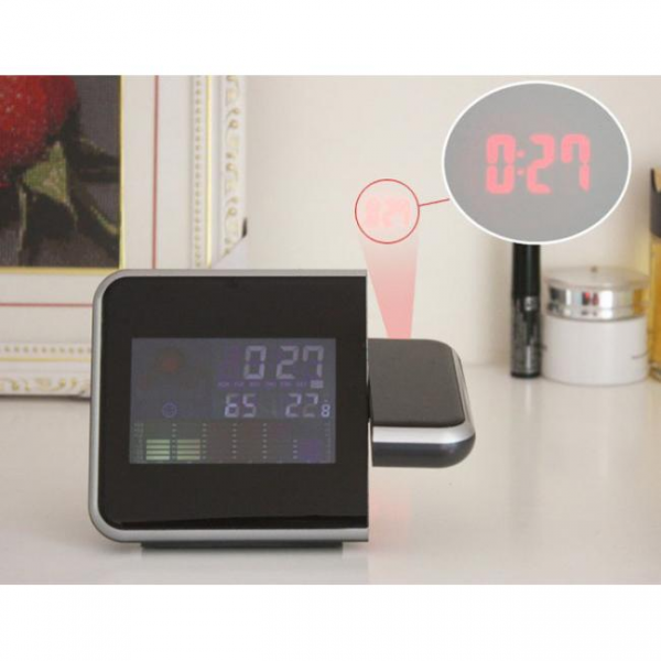Multifunctional digital weather station with alarm clock and colour ...