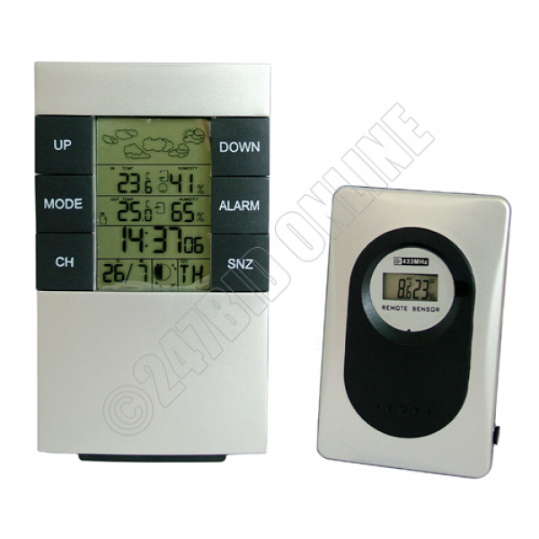 Details about WIRELESS LCD DIGITAL WEATHER STATION ALARM CLOCK INDOOR ...