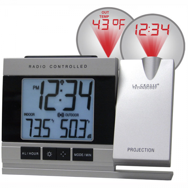 Projection Alarm Clock with Temperature at Brookstone—Buy Now!
