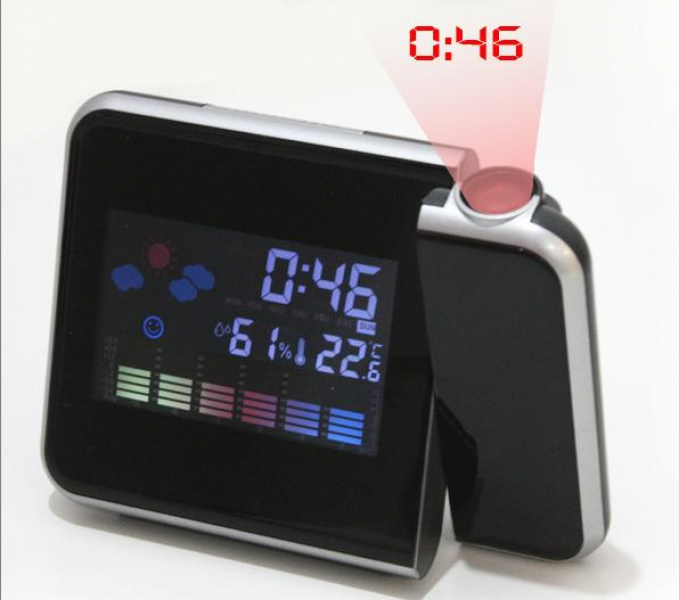 ... Digital Alarm Clock :: Digital weather projection snooze alarm clock