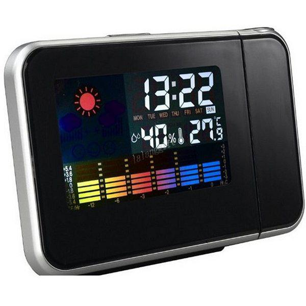 ... Hotsale New Digital Weather Temperature Wall Projection Alarm Clock