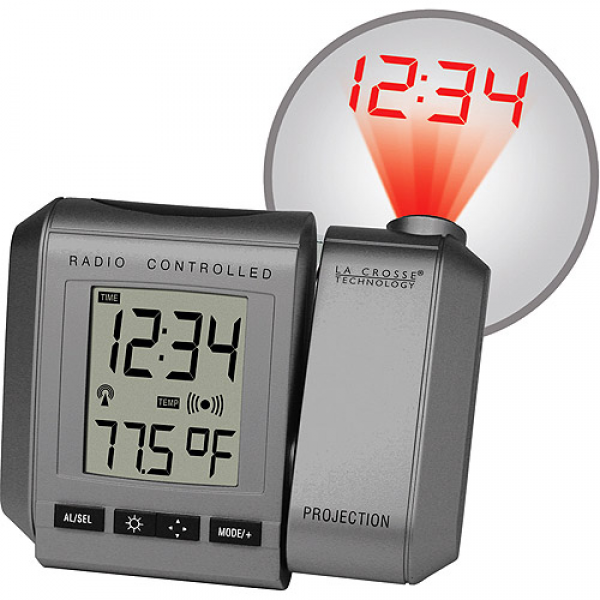 ... Projection Alarm Clock With Inside Temperature: Decor : Walmart.com