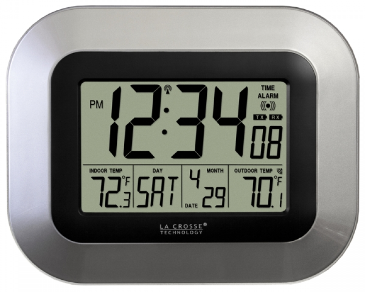 WS-8115U Atomic Digital Wall Clock with Indoor and Outdoor Temp